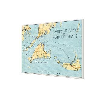 Martha's Vineyard y islas de Nantucket Impresiones En Lienzo Estiradas