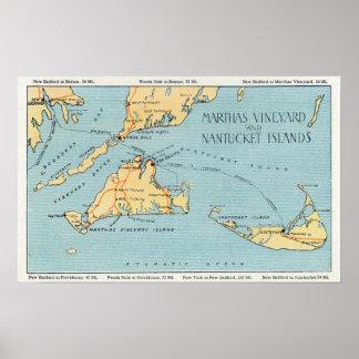 Martha's Vineyard y islas de Nantucket Póster