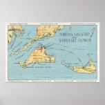 Martha's Vineyard y islas de Nantucket Posters