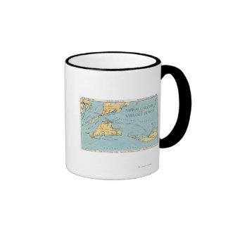 Martha's Vineyard y islas de Nantucket Taza De Dos Colores