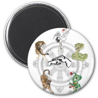 Martial Animals 2 Inch Round Magnet