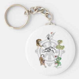 Martial Animals Basic Round Button Keychain