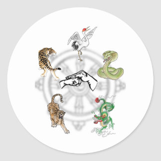 Martial Animals Classic Round Sticker