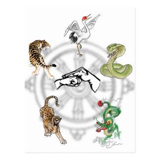 Martial Animals Postcard