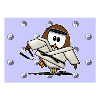 martial art owl business card templates