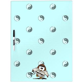 martial art owl Dry-Erase whiteboard
