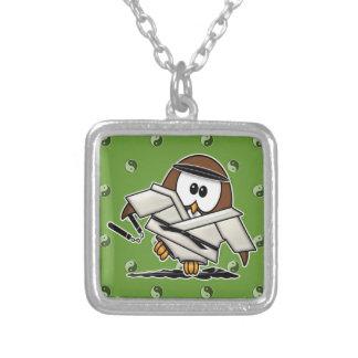 martial art owl jewelry