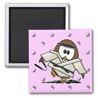 martial art owl magnet