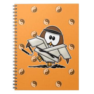martial art owl notebook