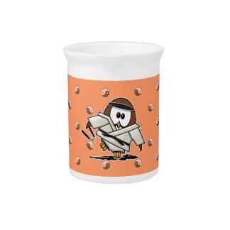 martial art owl drink pitcher