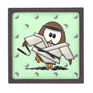 martial art owl premium keepsake box