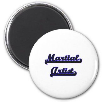Martial Artist Classic Job Design 2 Inch Round Magnet