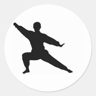 Martial Artist Classic Round Sticker