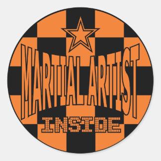 Martial Artist Inside Sticker