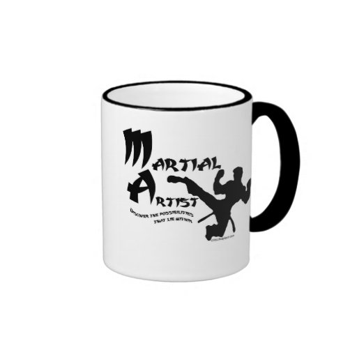 Martial Artist Ringer Coffee Mug