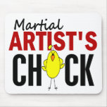 MARTIAL ARTIST'S CHICK MOUSE PAD
