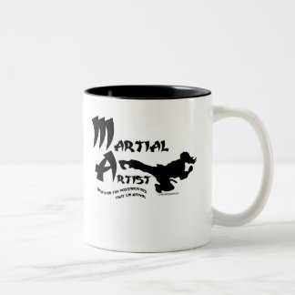 Martial Artist Two-Tone Coffee Mug