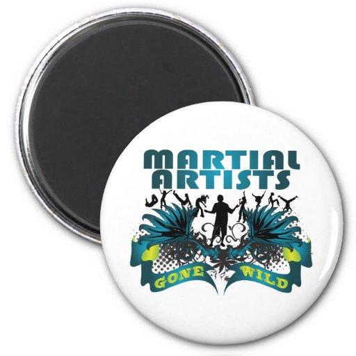 Martial Artists Gone Wild 2 Inch Round Magnet