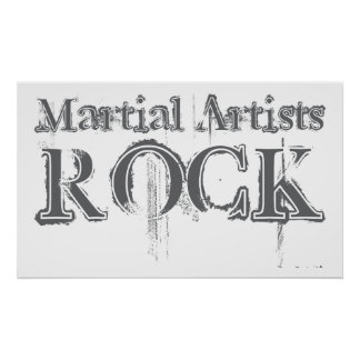 Martial Artists Rock Poster
