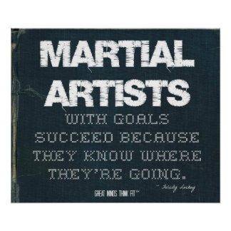 Martial Artists with Goals Succeed in Denim Poster