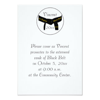 Martial Arts 1st Degree Black Belt Test Invitation