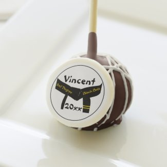 Martial Arts 2nd Degree Black Belt Cake Pops