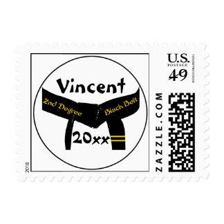 Martial Arts 2nd Degree Black Belt Postage Stamp