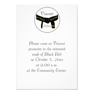 Martial Arts 2nd Degree Black Belt Test Invitation