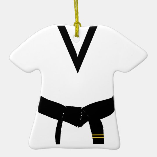 Martial Arts 2nd Degree Black Belt Uniform Ceramic Ornament