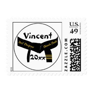Martial Arts 3rd Degree Black Belt Postage Stamp