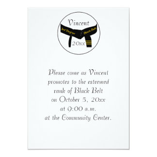 Martial Arts 3rd Degree Black Belt Test Invitation