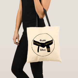 Martial Arts 3rd Degree Black Belt Tote Bag