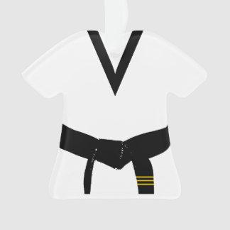 Martial Arts 3rd Degree Black Belt Uniform Dated Ornament