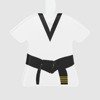 Martial Arts 4th Degree Black Belt Uniform Ornament