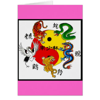 MARTIAL ARTS 5 ANIMALS CARD