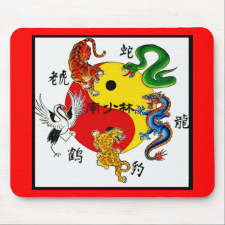 MARTIAL ARTS 5 ANIMALS MOUSE PAD