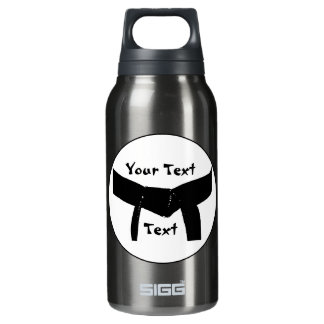 Martial Arts Basic Black Belt Thermos Water Bottle