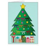 Martial Arts Belts Christmas Holiday Tree Card