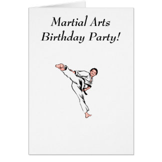 Martial Arts Birthday Party Greeting Cards