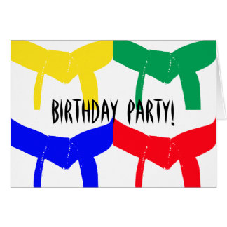 Martial Arts Birthday Party Invitation Greeting Cards