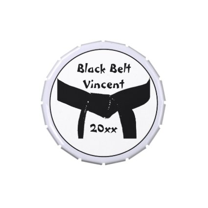 Martial Arts Black Belt Candy Tin