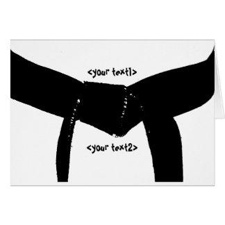 Martial Arts Black Belt Card