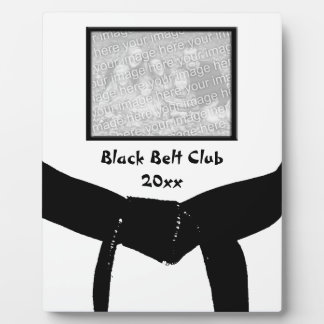 Martial Arts Black Belt Club Photo Plaque