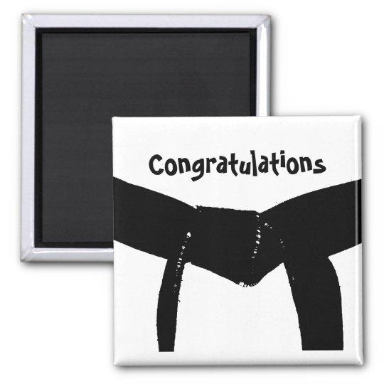 Martial Arts Black Belt Congratulations Magnet