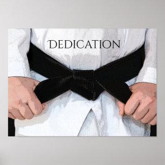Martial Arts Black Belt Dedication Motivational Poster