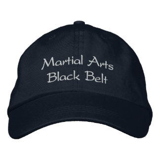 Martial Arts Black Belt Hat