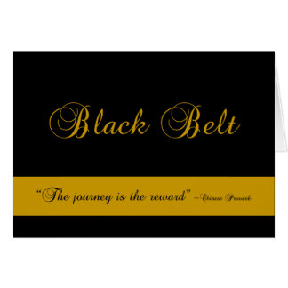 Martial Arts Black Belt Journey Congratulations Greeting Card