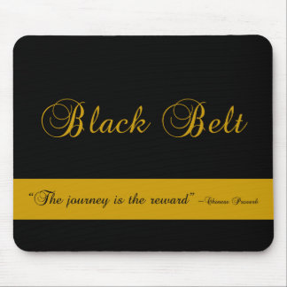 Martial Arts Black Belt Journey Mouse Pad