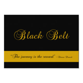 Martial Arts Black Belt Journey Promotion Test Card