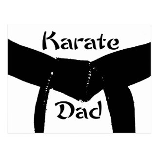 Martial Arts Black Belt Karate Dad Postcard